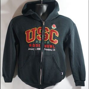 USC Rose Bowl Stitched & Embroidered Hoodie Size S